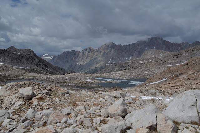 lakes in the rocks below