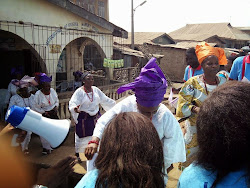Some market women leaders in solidarity in Oshogbo, Osun state
