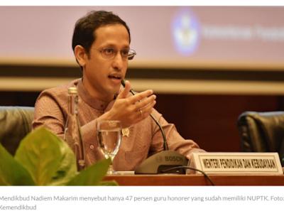 Mendikbud Nadiem Anwar Makarim: Terserah Kepala Sekolah