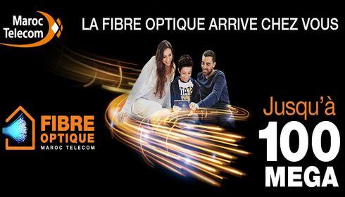 les offres internet via la fibre optique de maroc telecom sont disponibles au niveau des grandes villes