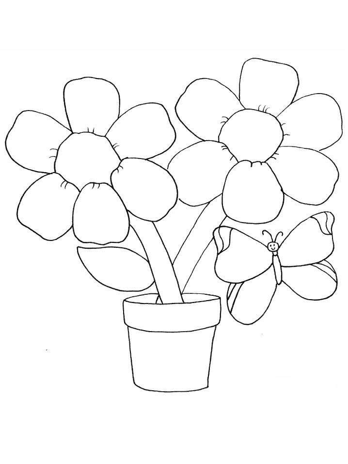 Раскраски деткам: Раскраска Цветов для детей