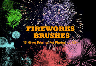 15 Pincles de Fuegos Artificiales para Photoshop