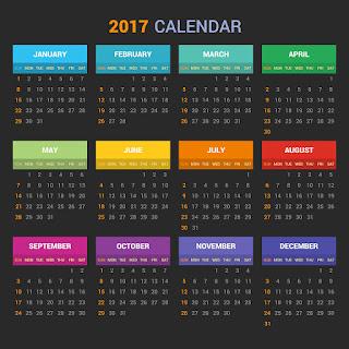 2017カレンダー無料テンプレート116