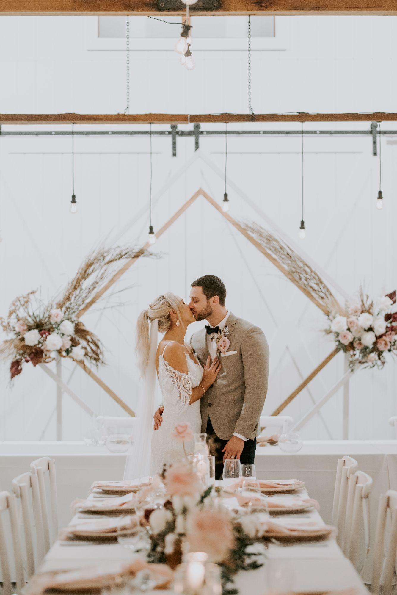 LOVE: HAYLEY + AARON | SOFT BLUSH PINK + IVORY WEDDING SUMMERGOVE ESTATE NSW