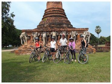 Cycling Sukhothai in Sukhothai, Thailand