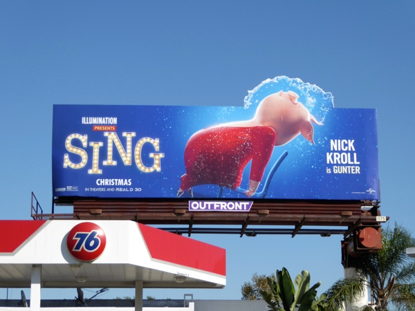 Sing Pig Flashdance spoof special extension billboard