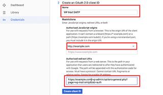 Paso 2 de credenciales de API