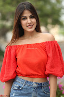 Rhea Chakraborty in Red Crop Top and Denim Shorts Spicy Pics ~  Exclusive 254.JPG