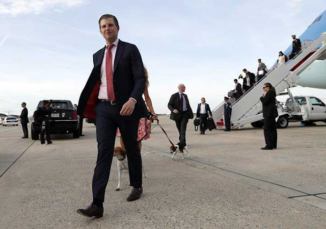 Eric Trump says Democrats 'not even people' for challenging father