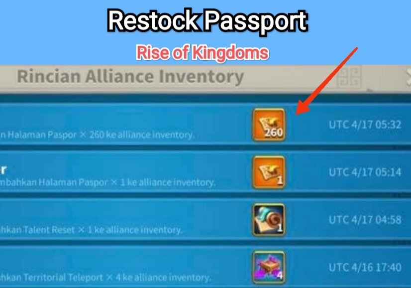 halaman paspor rise of kingdoms passport rok
