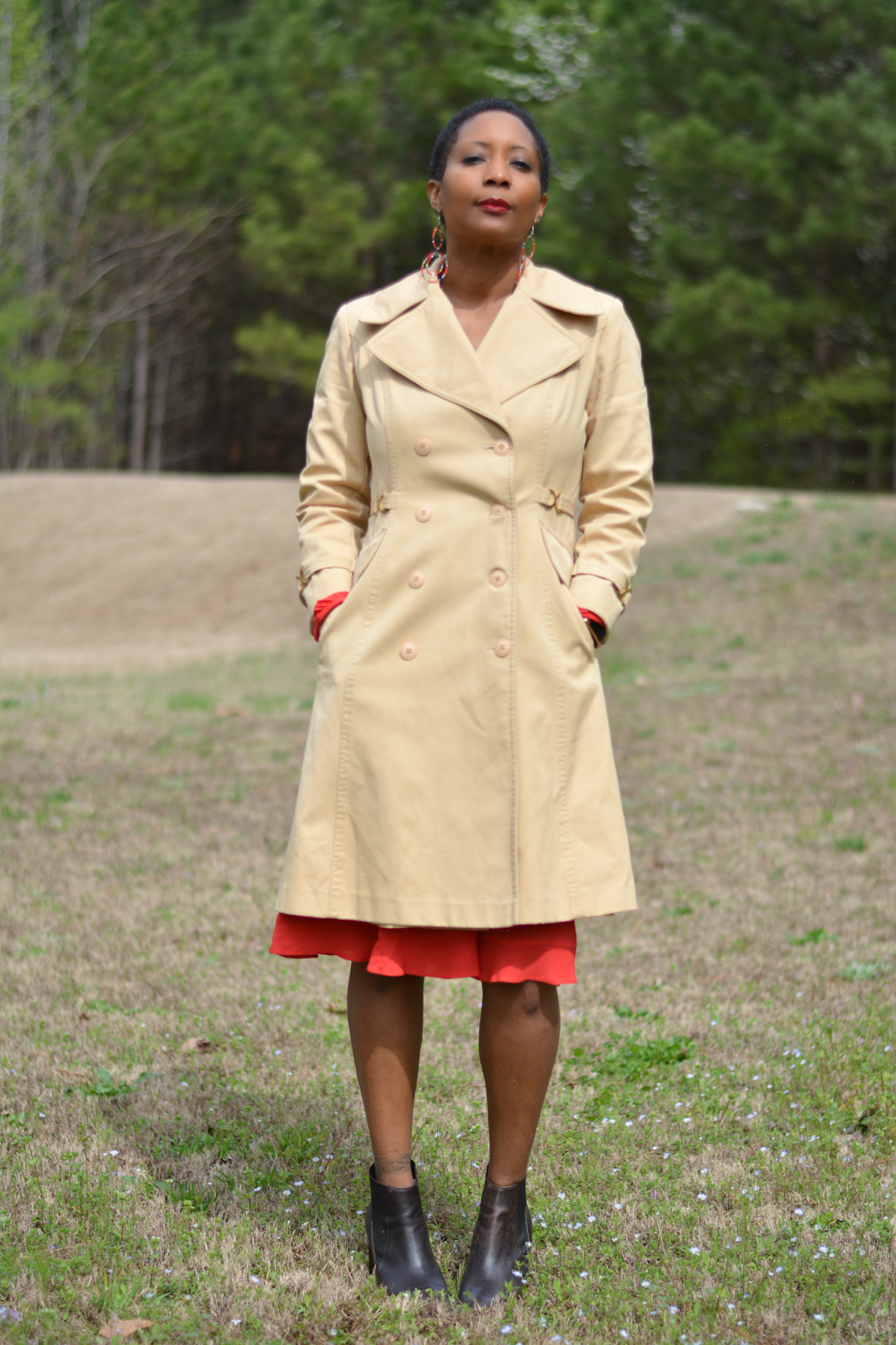 fleet street vintage khaki trench coat