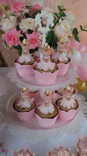 Cupcake tema ursa princesa