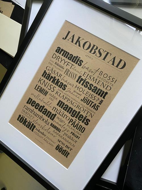 dialektposter dialekttavla jakobstad österbotten dialekt poster affisch plansch