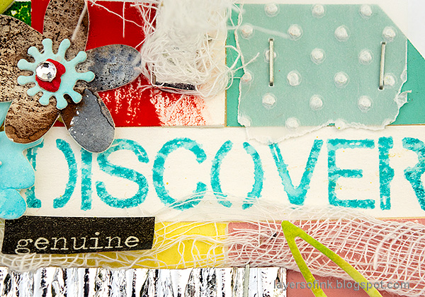 Layers of ink - Bright and Cheerful Tag by Anna-Karin Evaldsson.