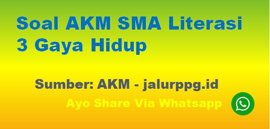 Soal AKM SMA Literasi 3 Gaya Hidup - www.jalurppg.id