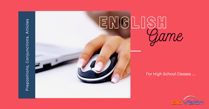 ENGLISH EVALUATION GAME - STANDARDS 8, 9, 10 - PREPOSITIONS, CONJUNCTIONS, ARTICLES