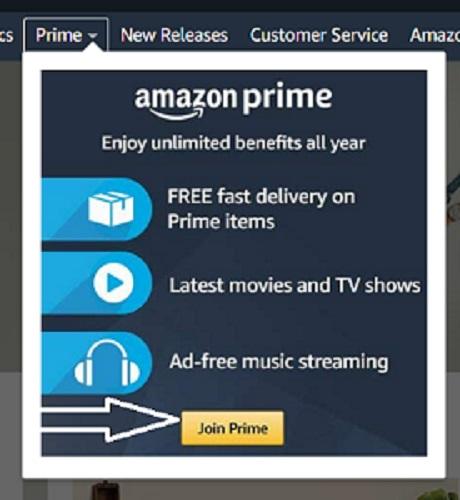 join amazon prime free