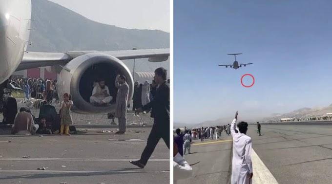 """""""Заберіть нас звідси"""": ЗМІ показали як люди падають з літаків в Афганістані (ВІДЕО)"""