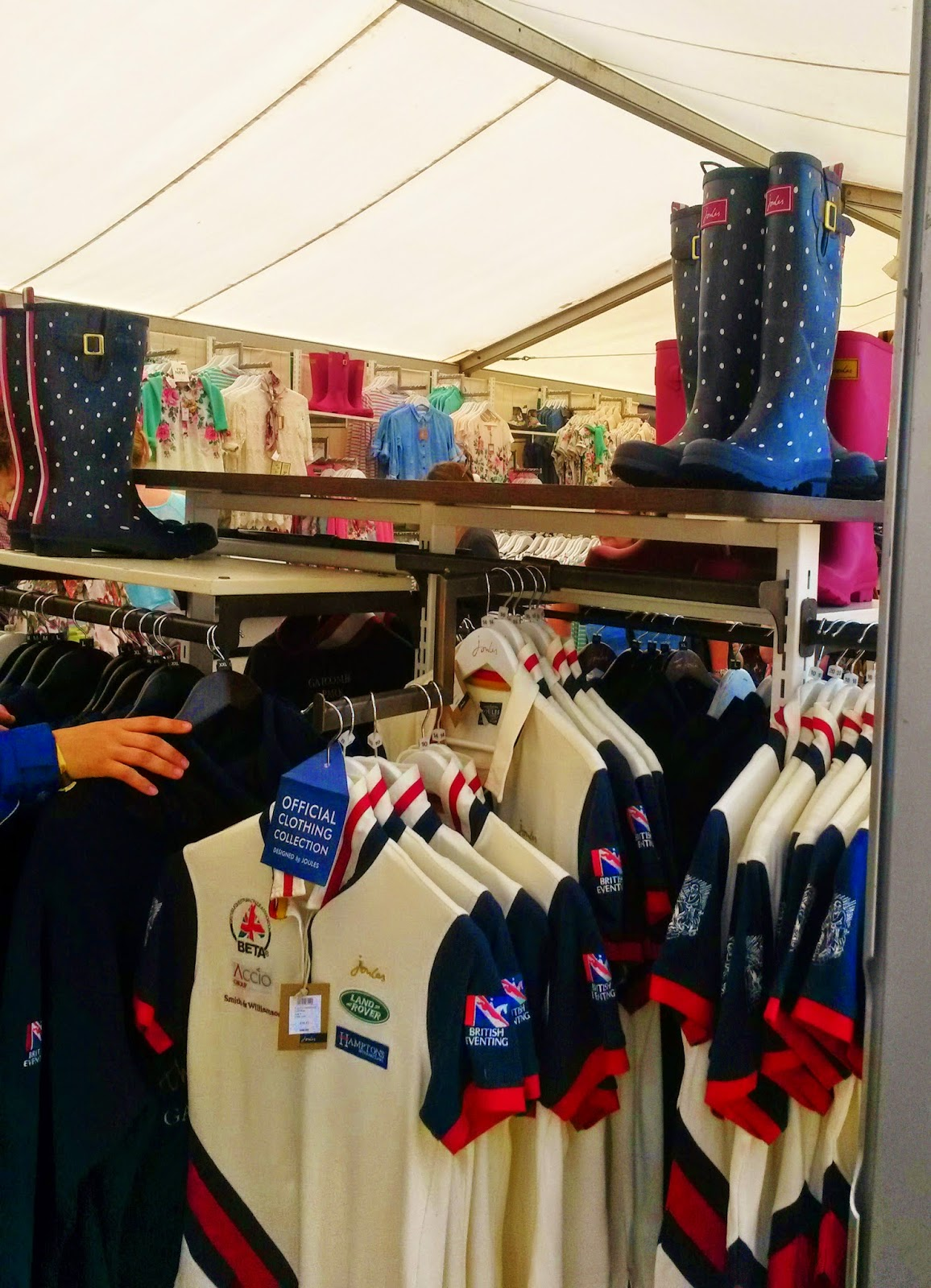 Joules polo shirts at Gatcombe Park Festival of Eventing
