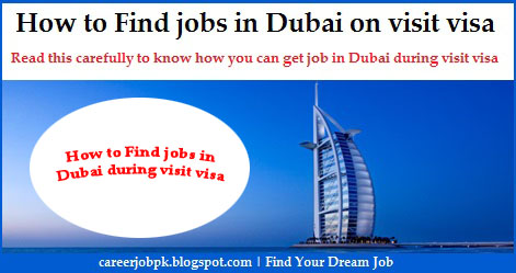 How to find jobs in Dubai on visit visa