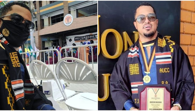 Actor Van Viker Graduates with 1st class upper after 21 years (Photos)