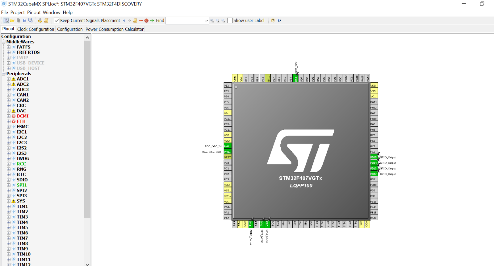 My STM32F4-Discovery: STM32F4-Discovery SPI with STM32CubeMX