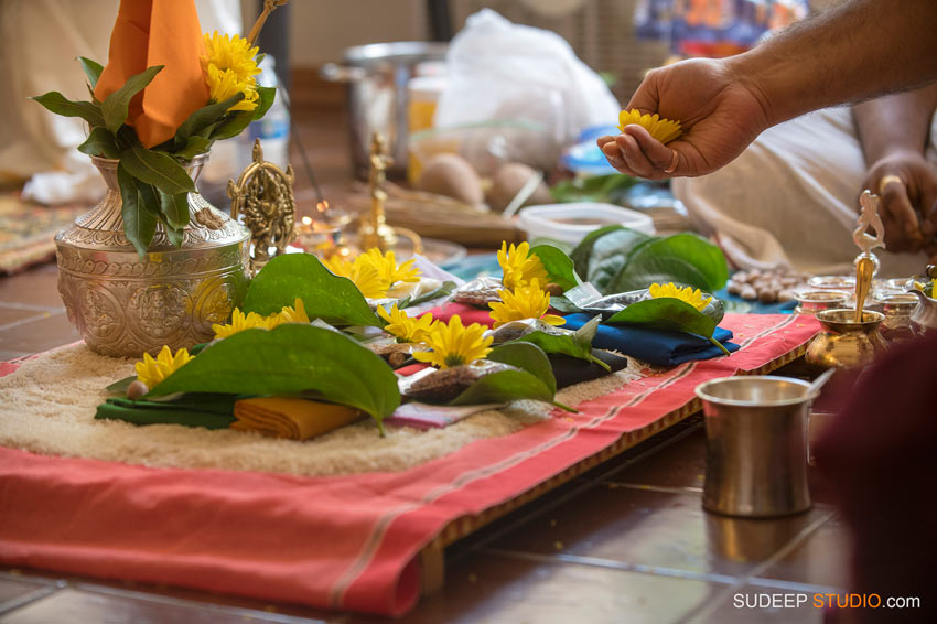 Indian Traditional Puja Ceremony decorations SudeepStudio.com Indian Event Photographer