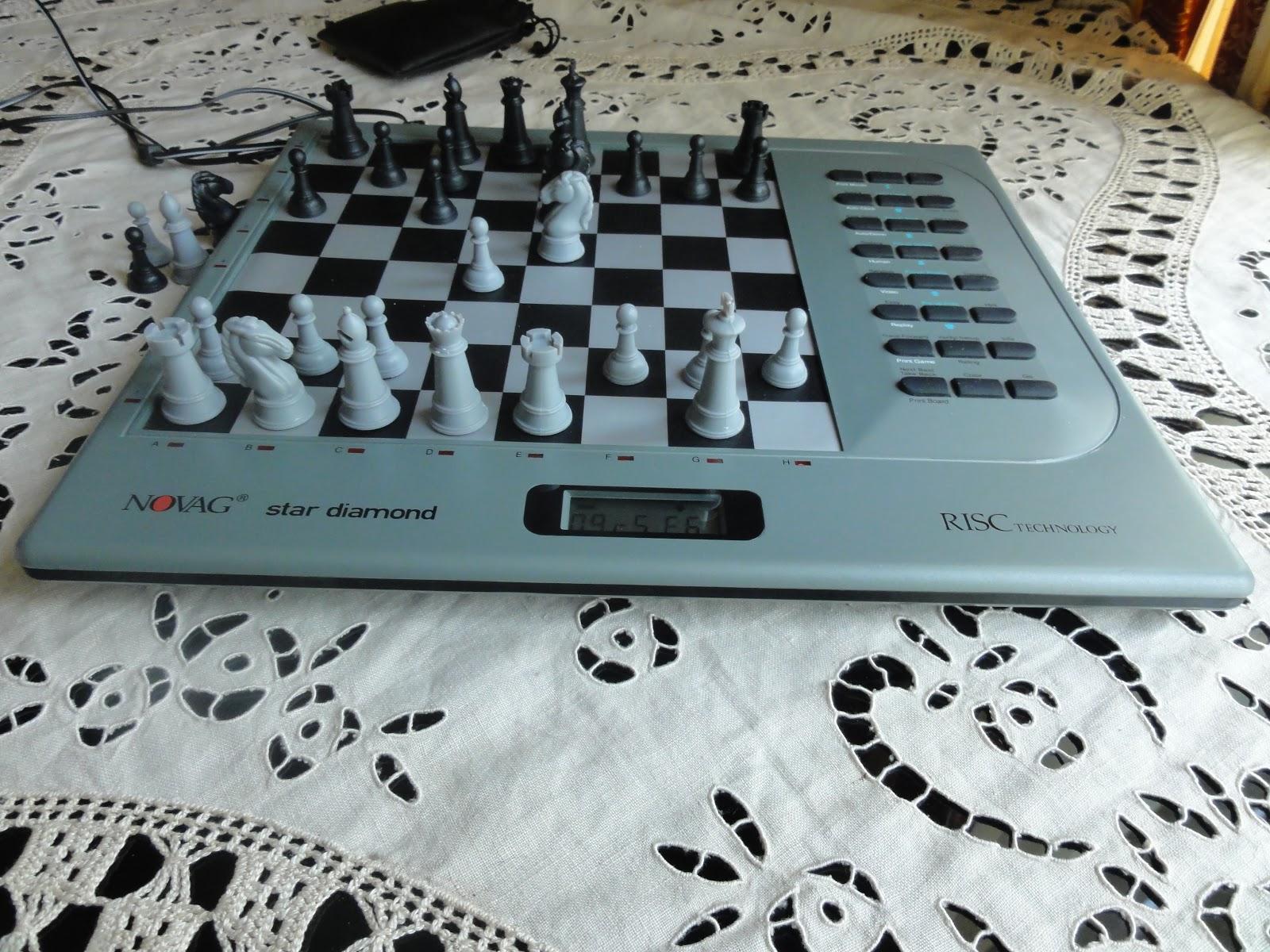 Milady and my dedicated chess computers: Novag Star Diamond