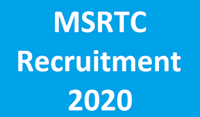 MSRTC Recruitment 2020 Apply online for Various Posts at www.msrtcexam.in