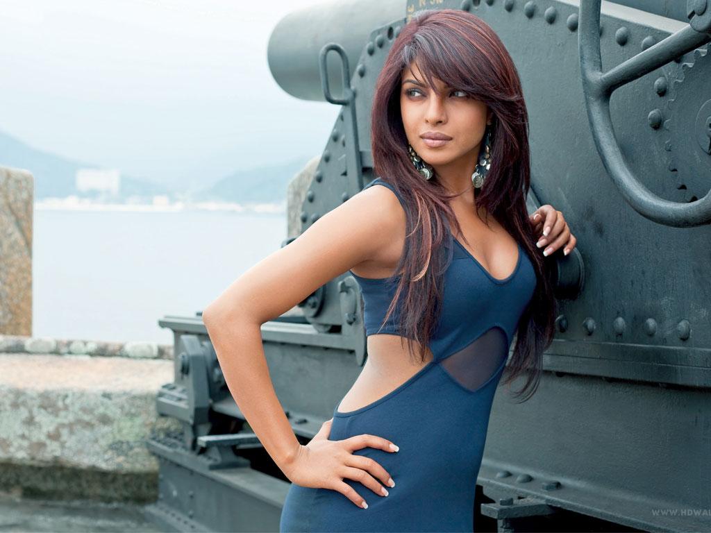 Priyanka Chopra Hot In Purple Dress  Bollywood Hollywood News-5237