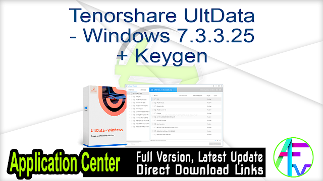Tenorshare UltData – Windows 7.3.3.25 + Keygen