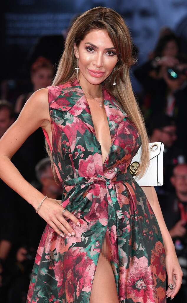 Farrah Abraham suffers wardrobe malfunction in VERY revealing floral gown with racy thigh-high slit during Venice Film Festival appearance