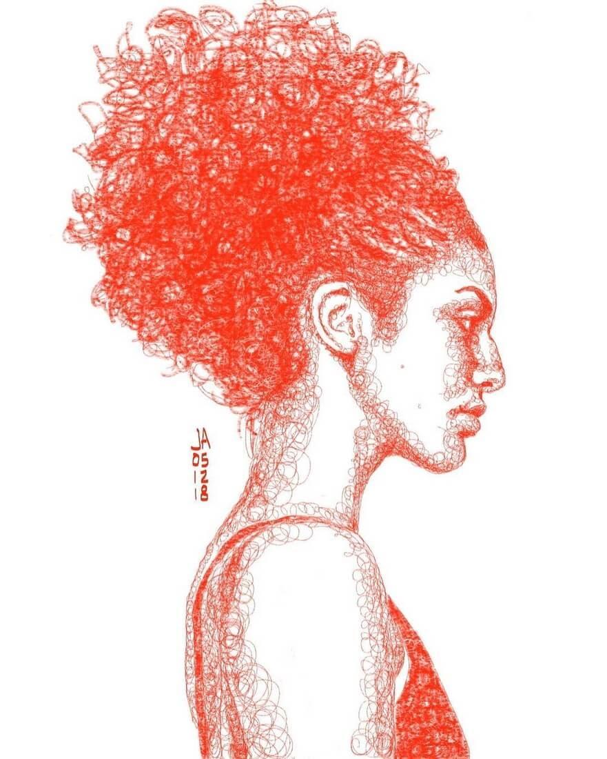 13-Danica-Jennifer-Ackerman-Digital-Art-Scribble-Drawing-Portraits-www-designstack-co