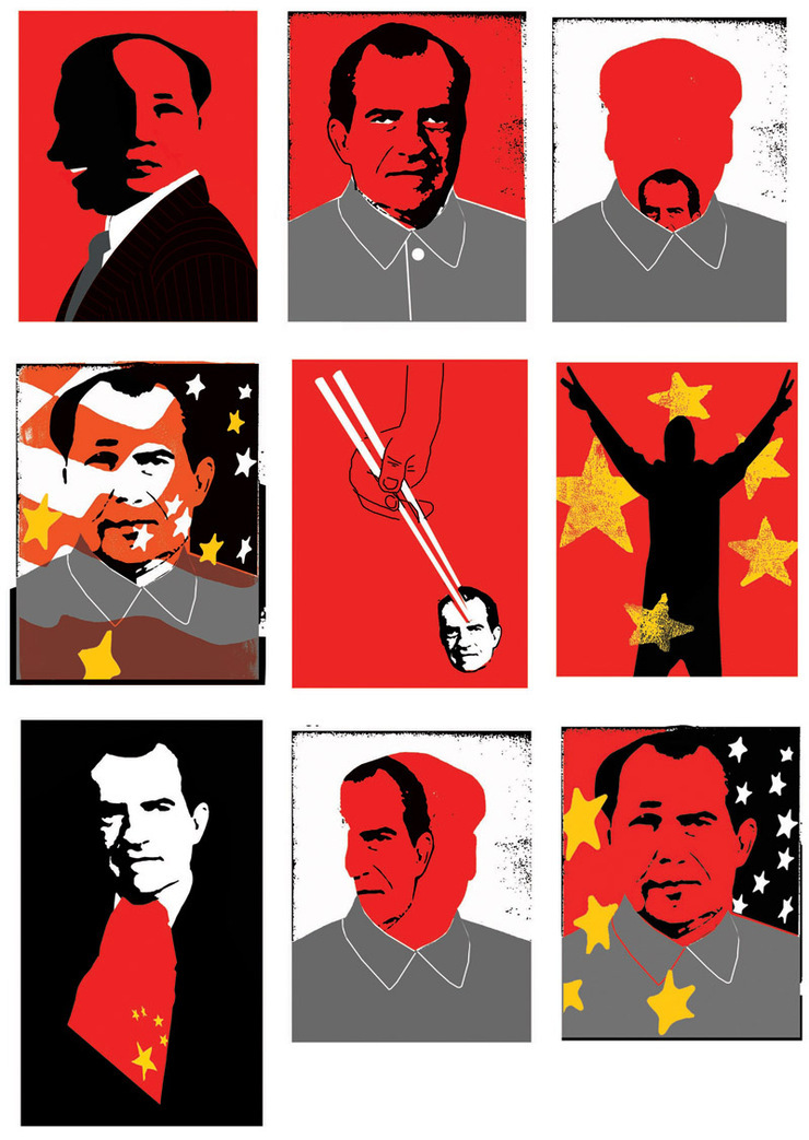 Edel Rodriguez. Nixon in China. Posters. Doctor Ojiplático