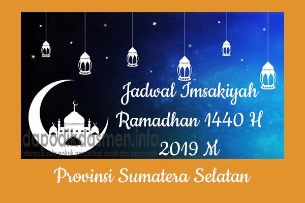 Jadwal Imsakiyah Ramadhan Provinsi Sumatera Selatan