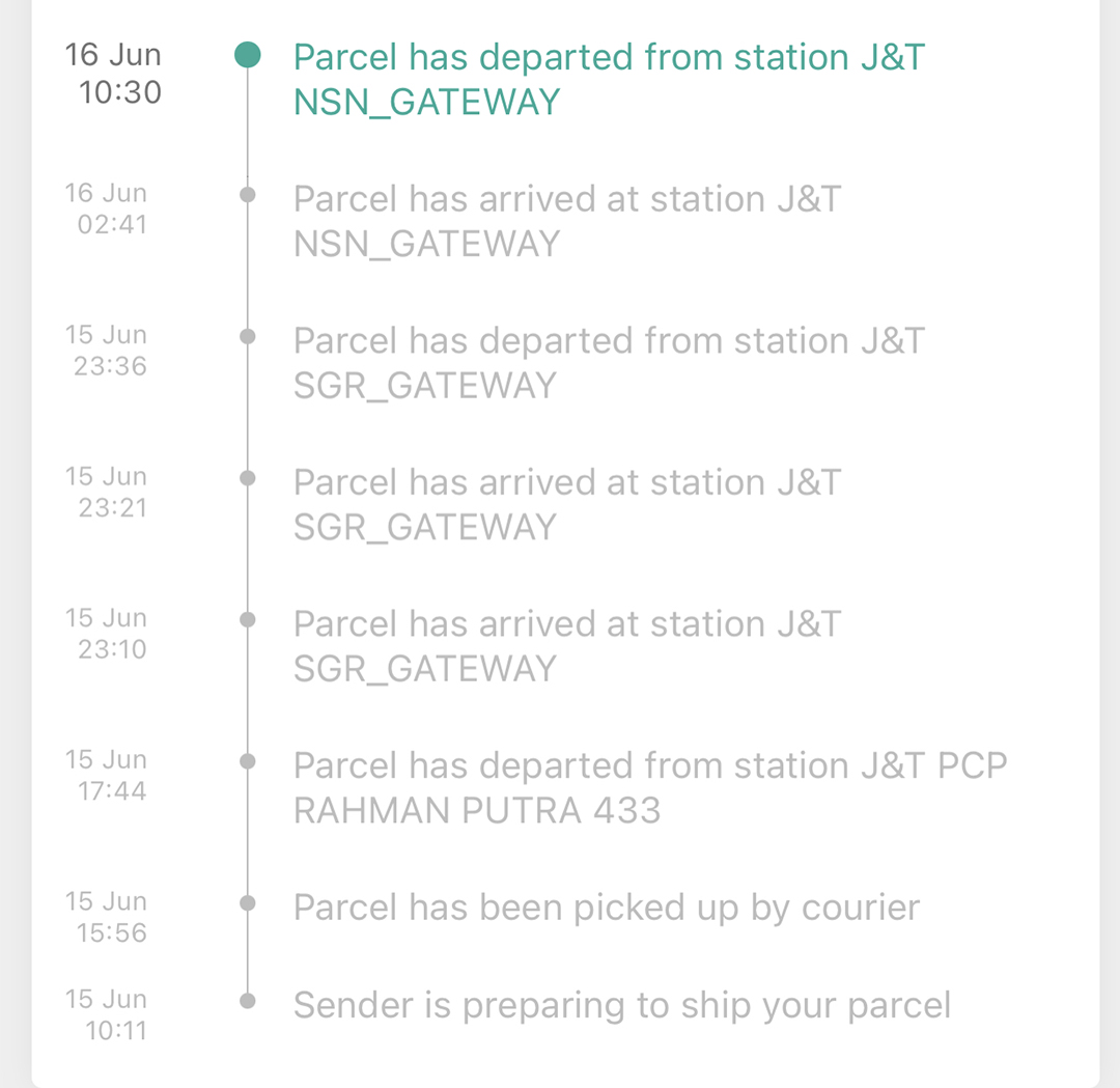 j&t express on hold meaning