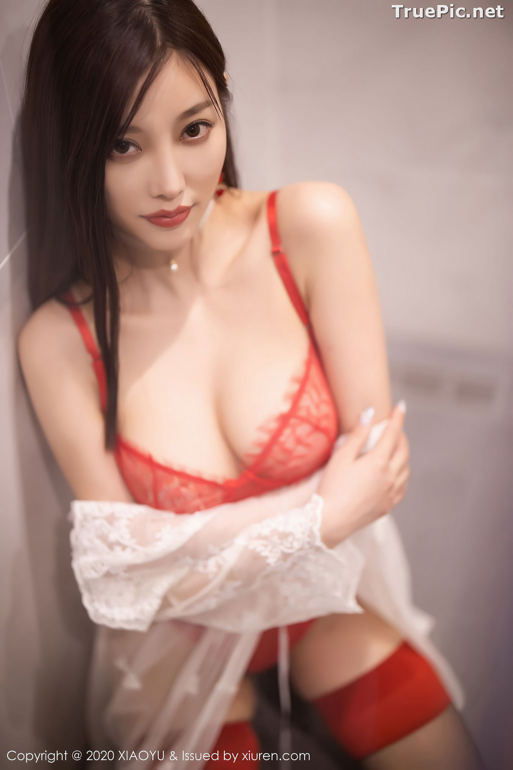Image XiaoYu Vol.413 - Chinese Model - Yang Chen Chen (杨晨晨sugar)- Red Crystal-clear Lingerie - TruePic.net - Picture-16