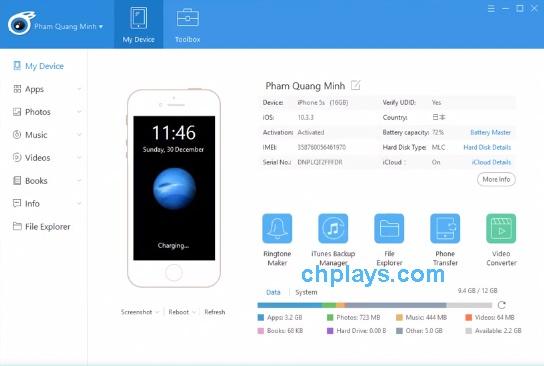 Download iTools - Sao lưu, copy dữ liệu iPhone, iPad mới nhất b