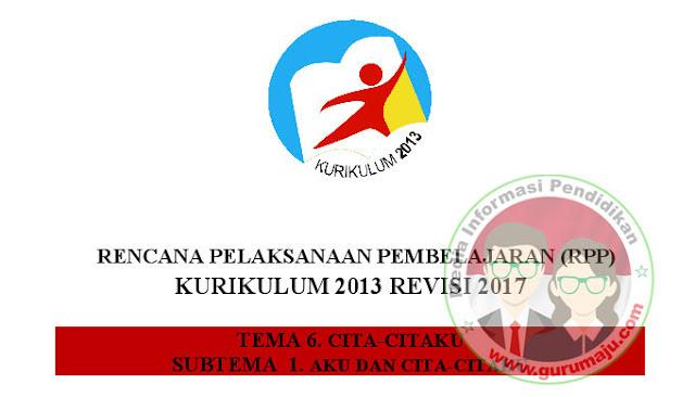 RPP KELAS 4 SD SEMESTER 2 KURIKULUM 2013 REVISI 2017