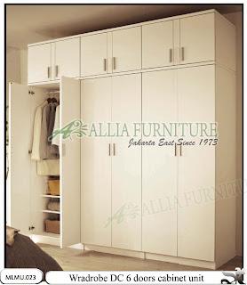 Lemari pakaian minimalis model cabinet unit DC