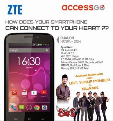 Harga HP ZTE Access GO 4E Tahun Ini Lengkap Dengan Spesifikasi Harga 1 Juta-an