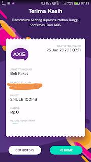 cara mendapatkan gratisan smule 100 mb untuk kartu axis