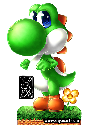 Yoshi - Mario - chibi