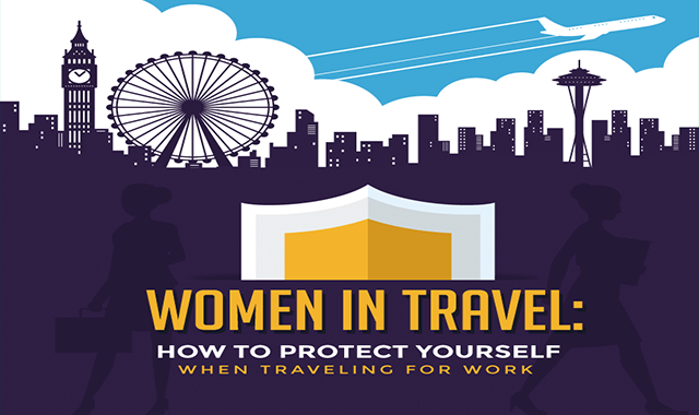women-in-travel-how-to-protect-yourself-when-traveling-for-work #infographic