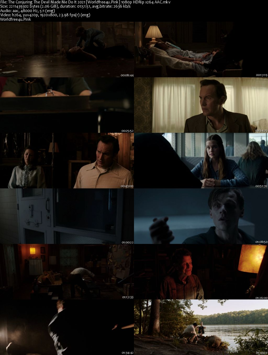 The Conjuring 3: The Devil Made Me Do It 2021 English HDRip 1080p