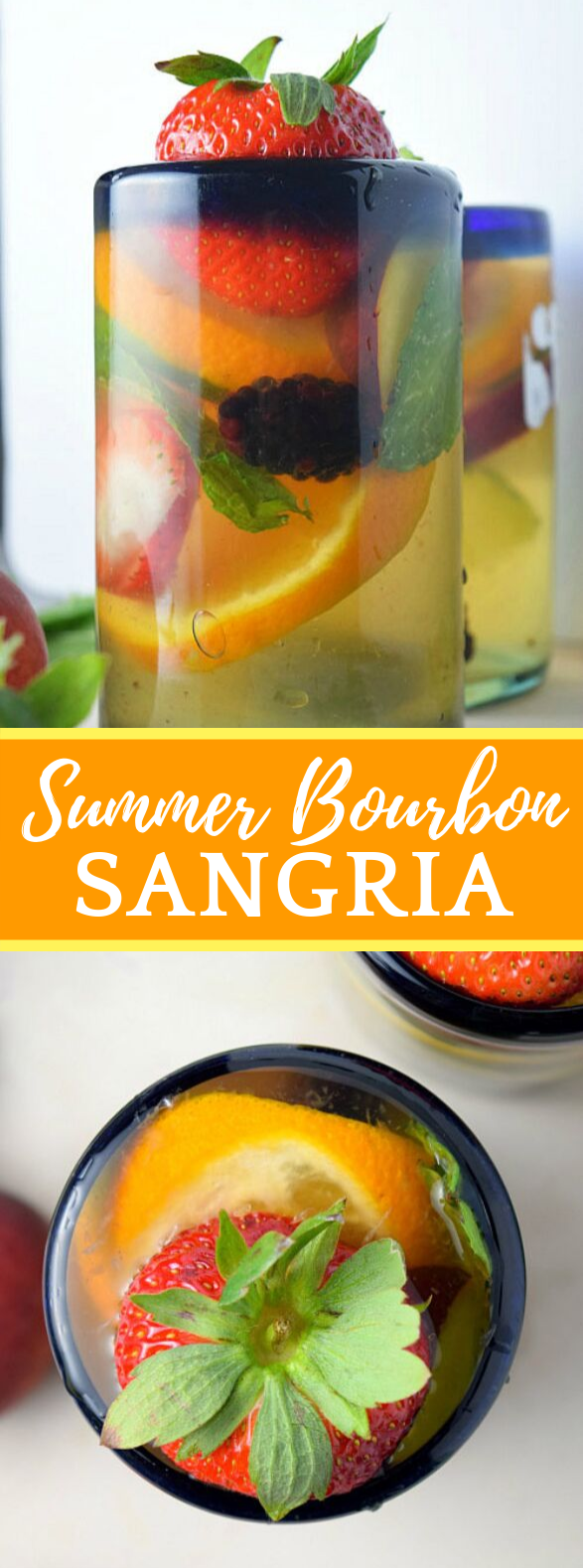 SUMMER BOURBON SANGRIA #drinks #summerdrink