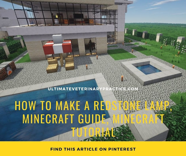 How to Make a Redstone Lamp, Minecraft Guide, Minecraft Tutorial