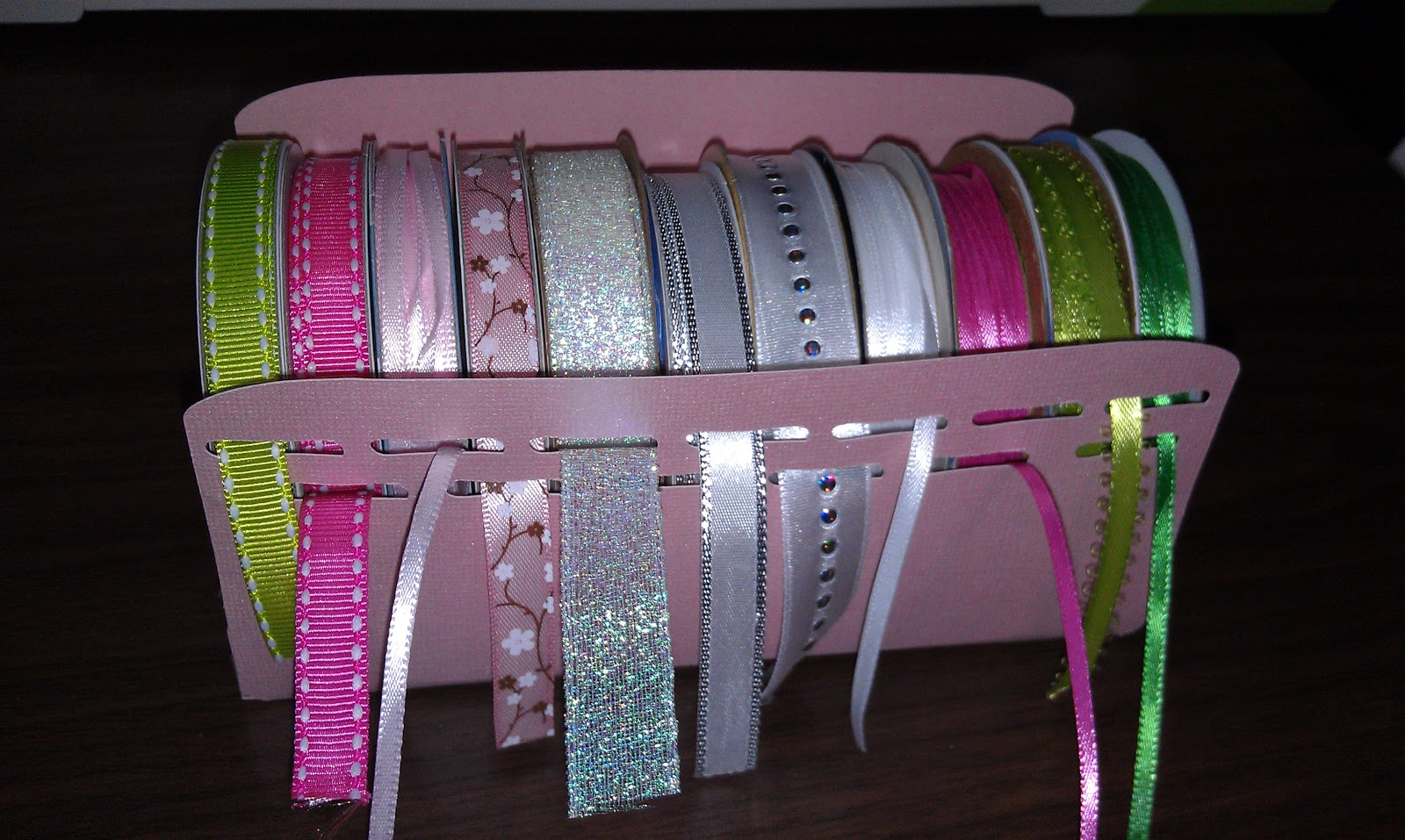 Cricket Craft Room: Melody Lane Designs: Ribbon Holder Made In CCR