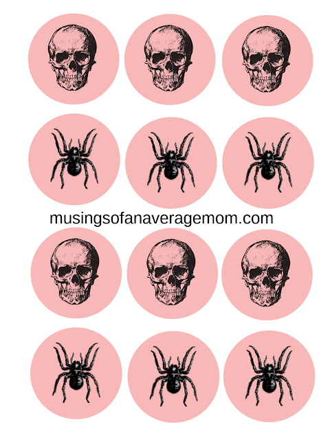 free pink and black halloween printables