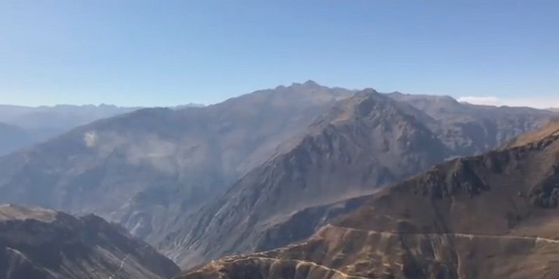 Colca canyon tourist place in south america